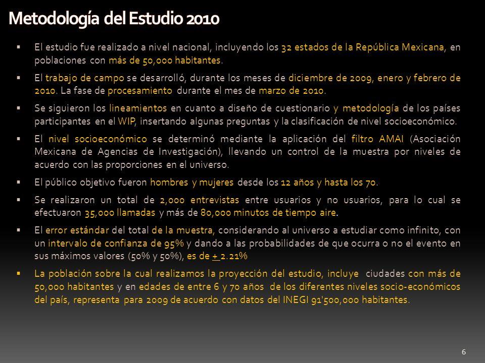 Metodología del Estudio 2010
