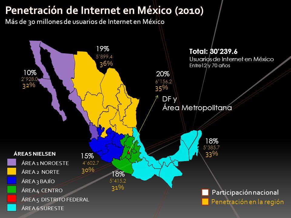 Penetración de Internet en México (2010)
