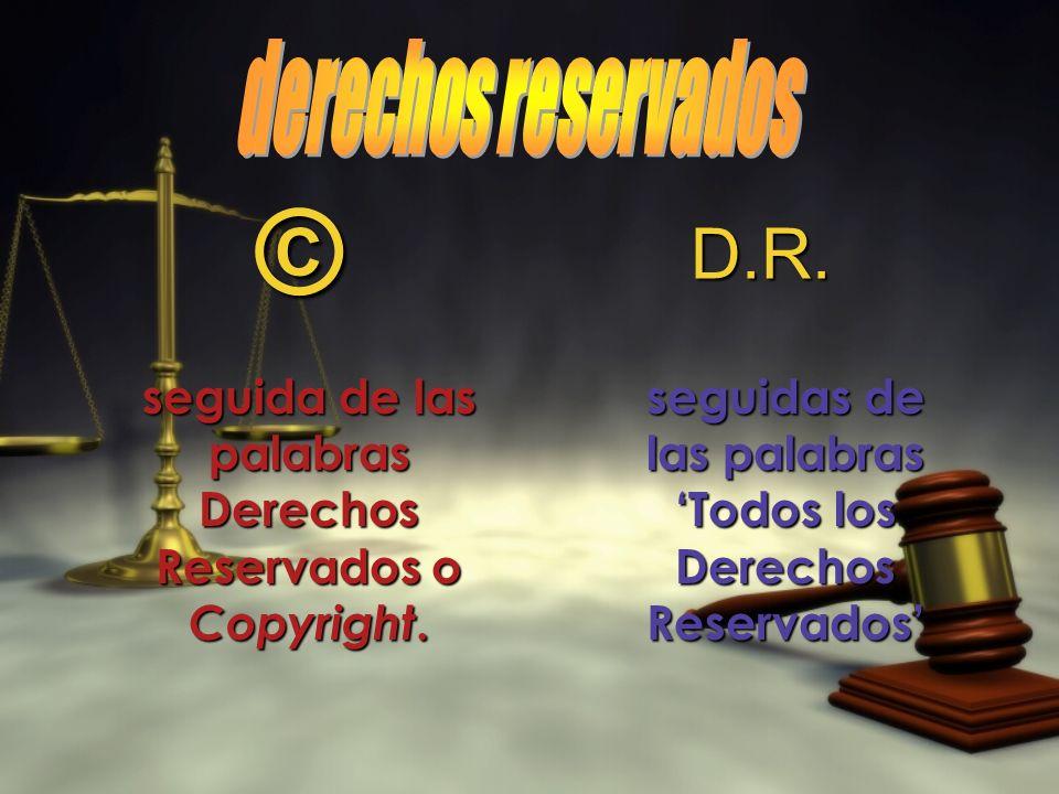 © D.R. derechos reservados