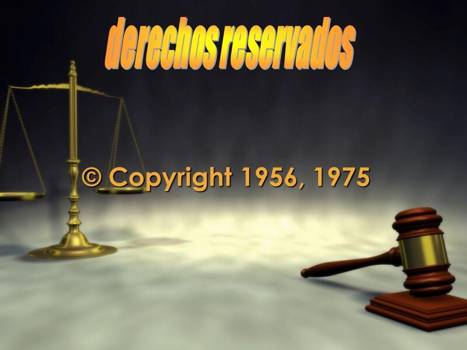 derechos reservados © Copyright 1956, 1975