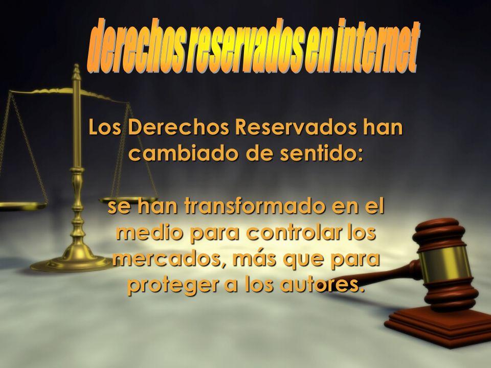 derechos reservados en internet