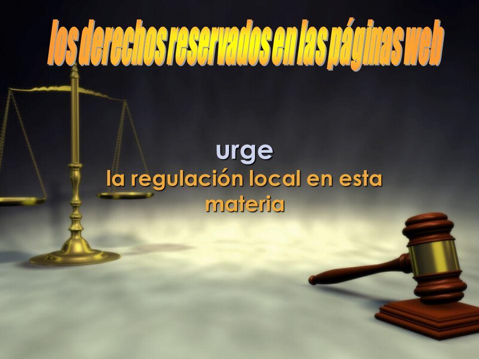 urge los derechos reservados en las páginas web