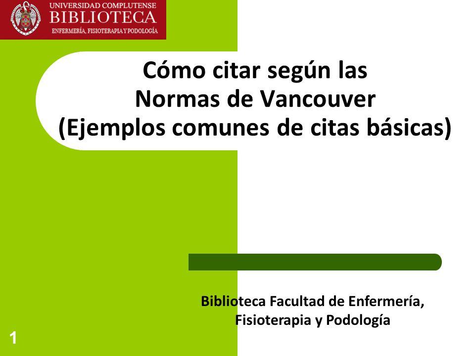 Biblioteca Facultad de Enfermería, Fisioterapia y Podología
