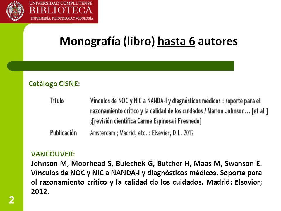 Monografía (libro) hasta 6 autores