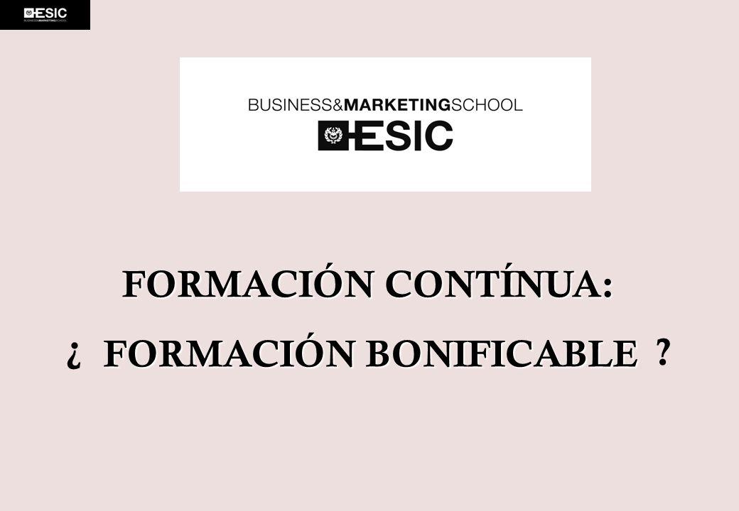 FORMACIÓN BONIFICABLE
