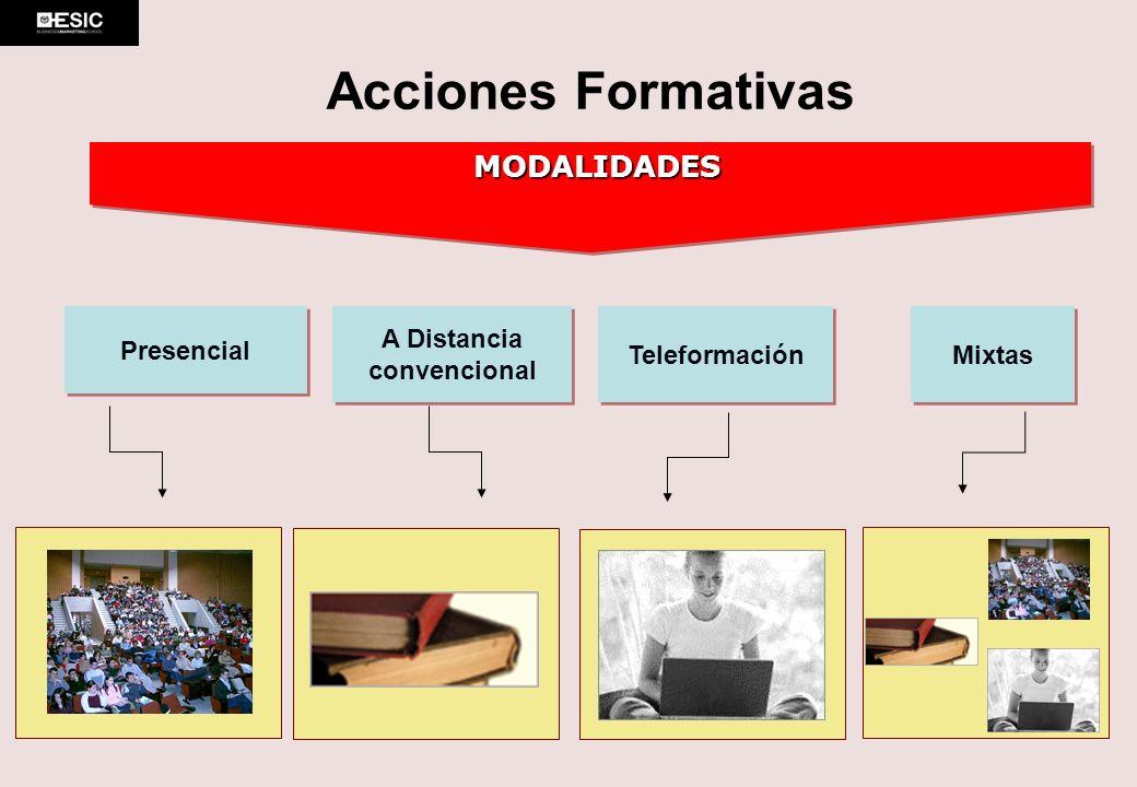 Acciones Formativas MODALIDADES Presencial A Distancia convencional