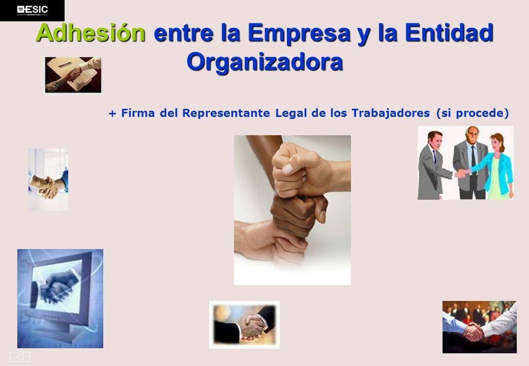 Adhesión entre la Empresa y la Entidad Organizadora