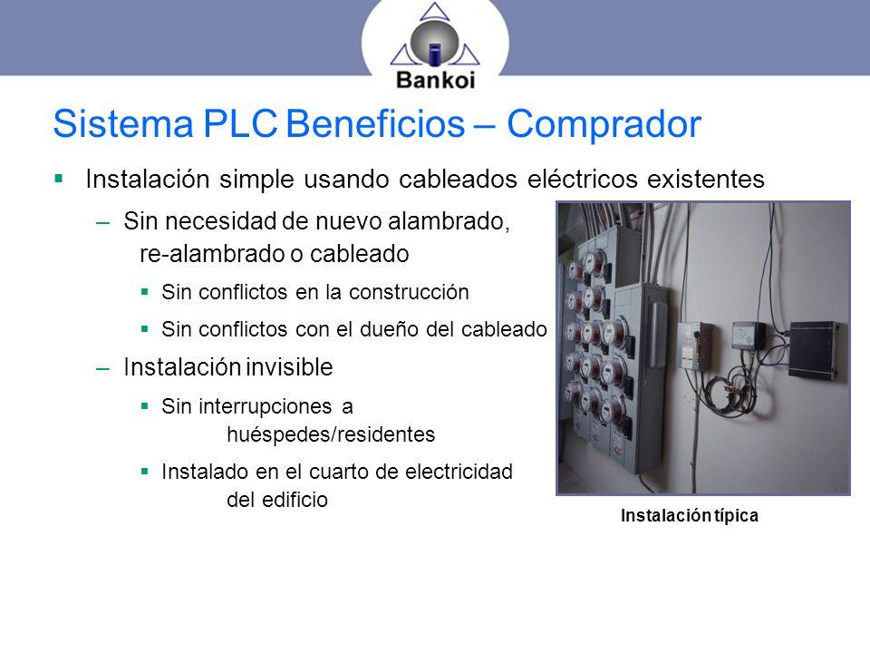 Sistema PLC Beneficios – Comprador
