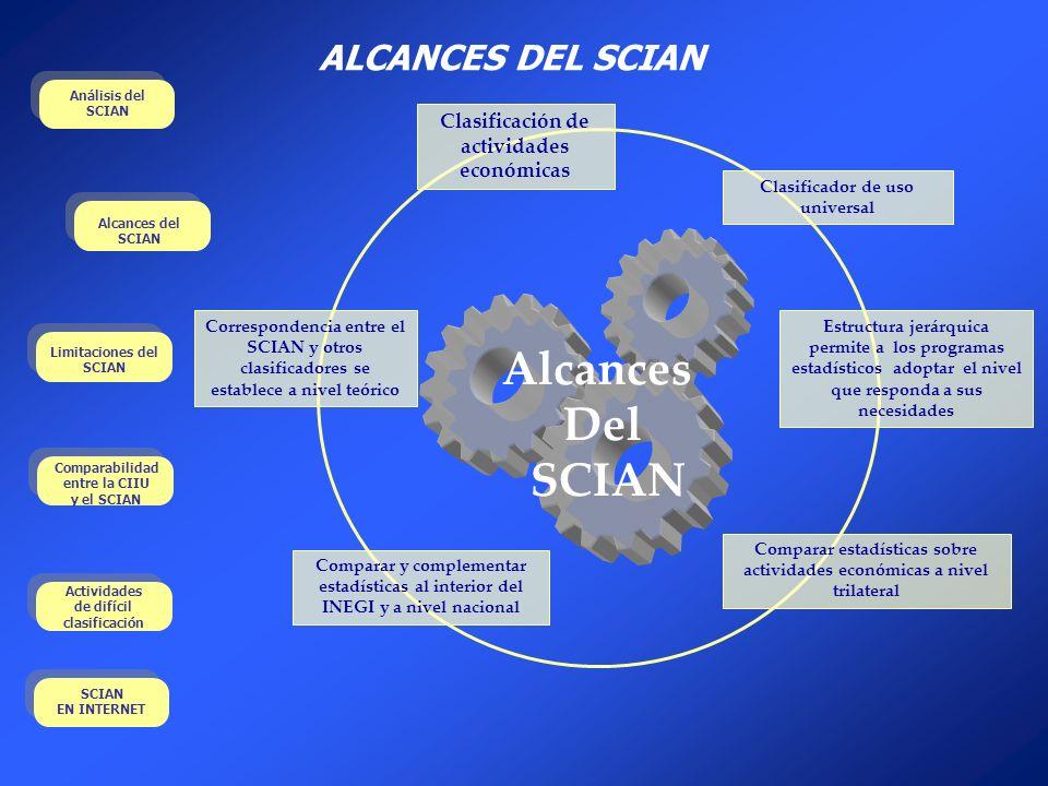 Alcances Del SCIAN ALCANCES DEL SCIAN