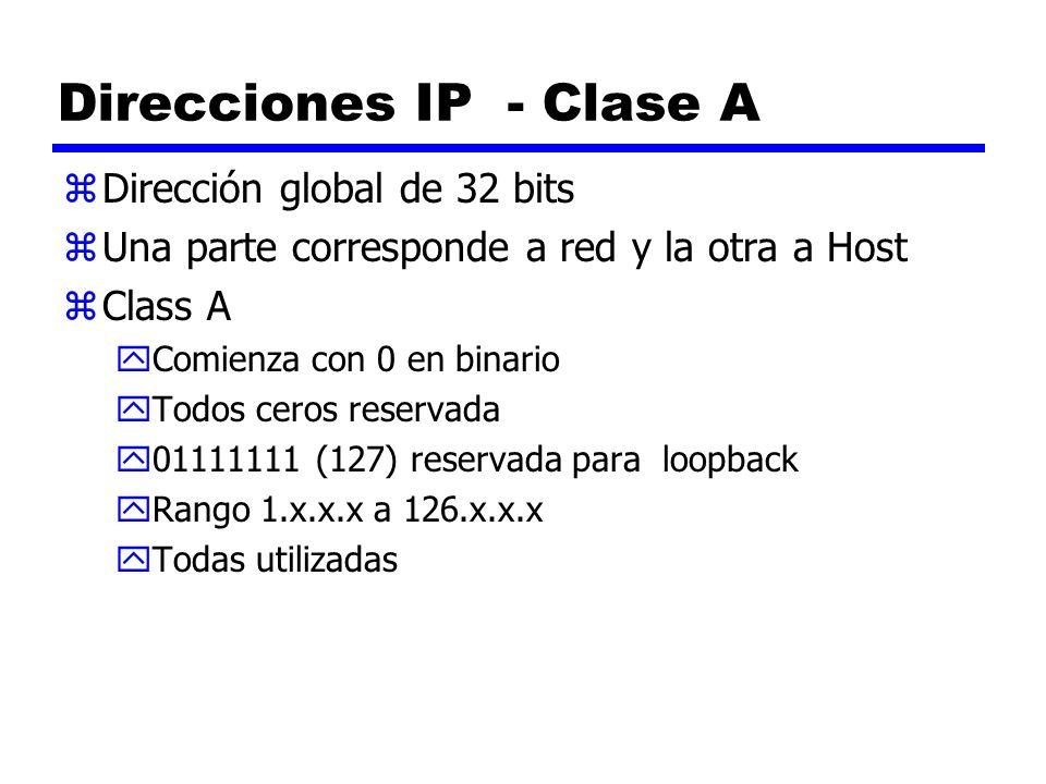 Direcciones IP - Clase A