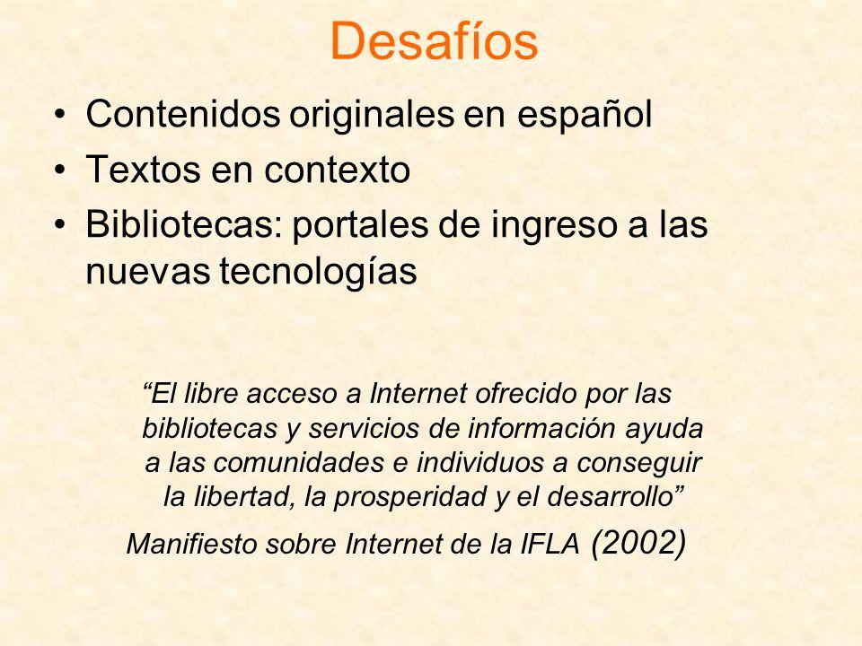 Manifiesto sobre Internet de la IFLA (2002)