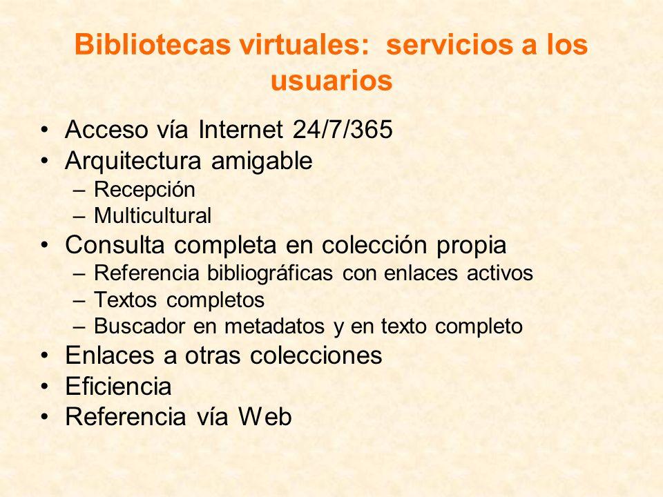 Bibliotecas virtuales: servicios a los usuarios