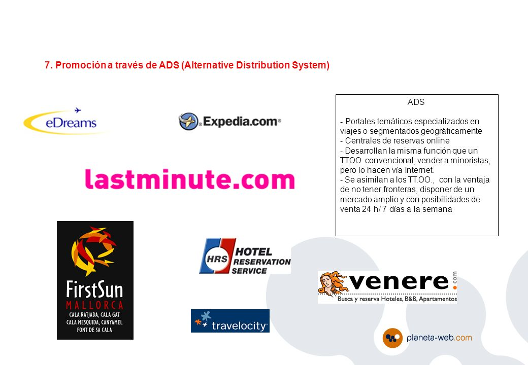 7. Promoción a través de ADS (Alternative Distribution System)