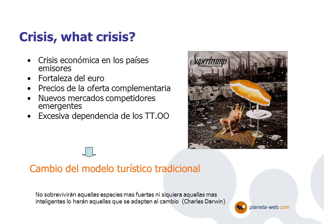 Cambio del modelo turístico tradicional