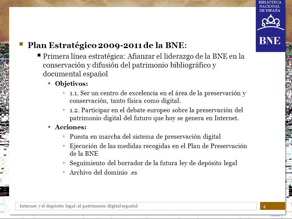 Plan Estratégico 2009-2011 de la BNE: