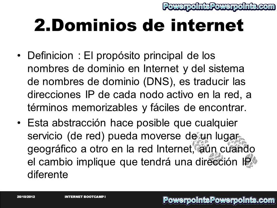 2.Dominios de internet