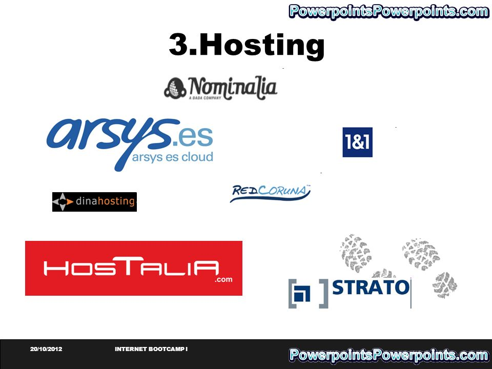 3.Hosting 20/10/2012 INTERNET BOOTCAMP I