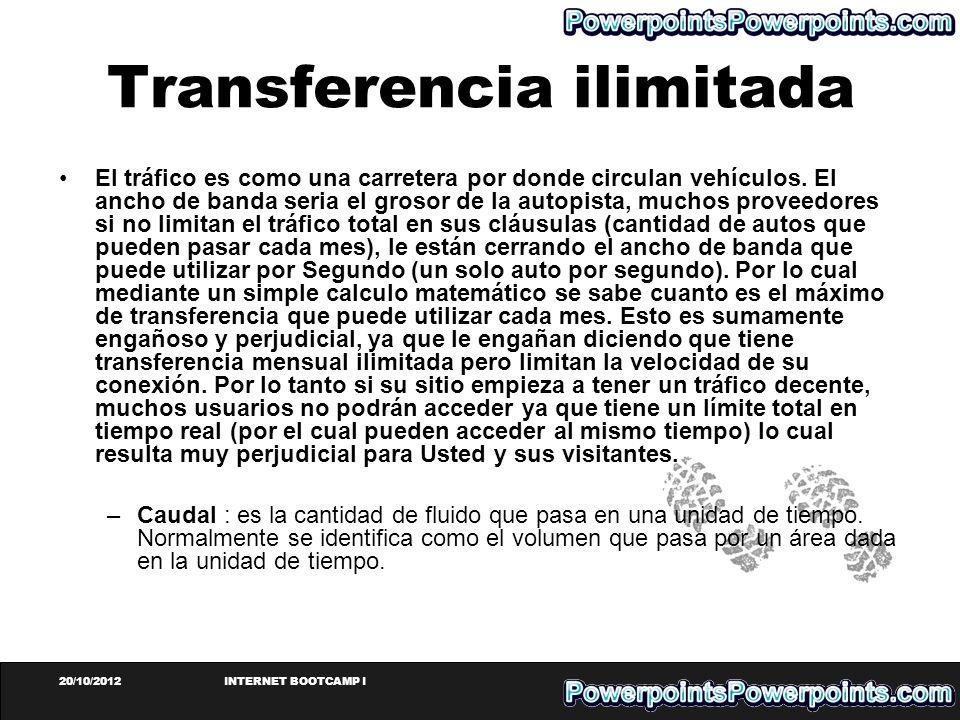 Transferencia ilimitada