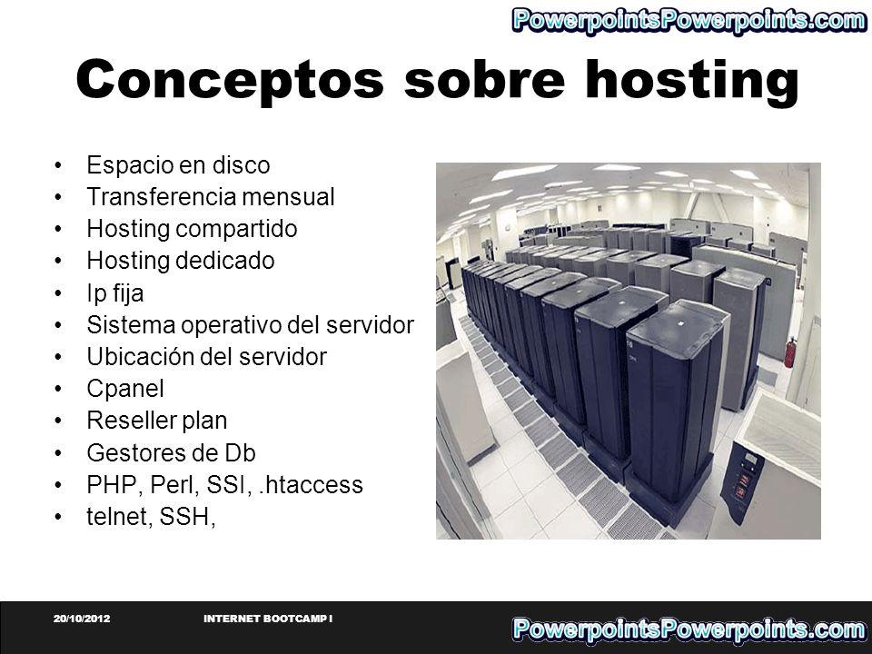 Conceptos sobre hosting