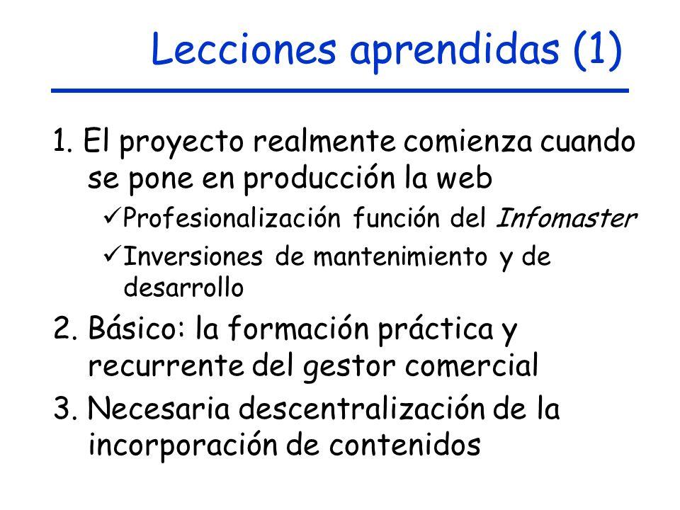 Lecciones aprendidas (1)