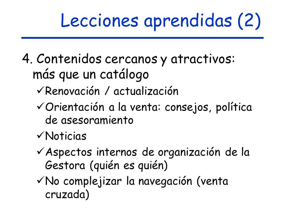 Lecciones aprendidas (2)