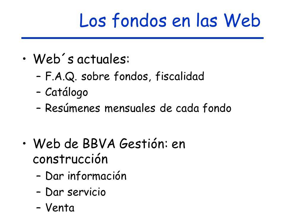 Los fondos en las Web Web´s actuales: