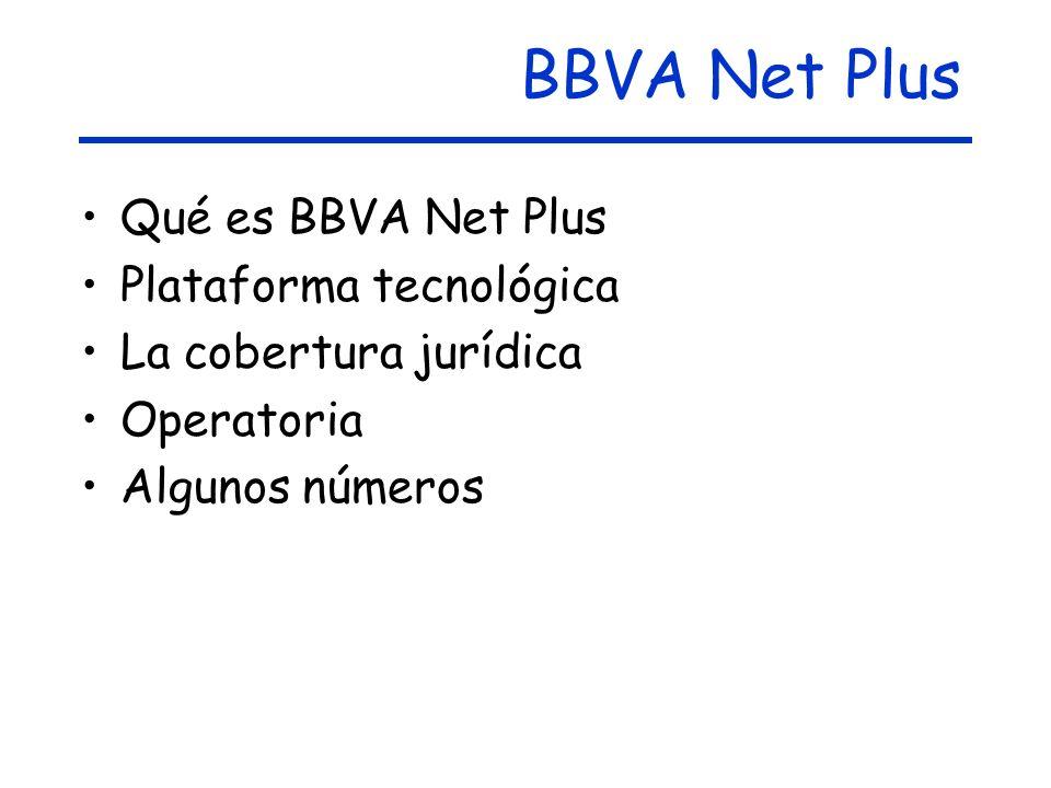 BBVA Net Plus Qué es BBVA Net Plus Plataforma tecnológica