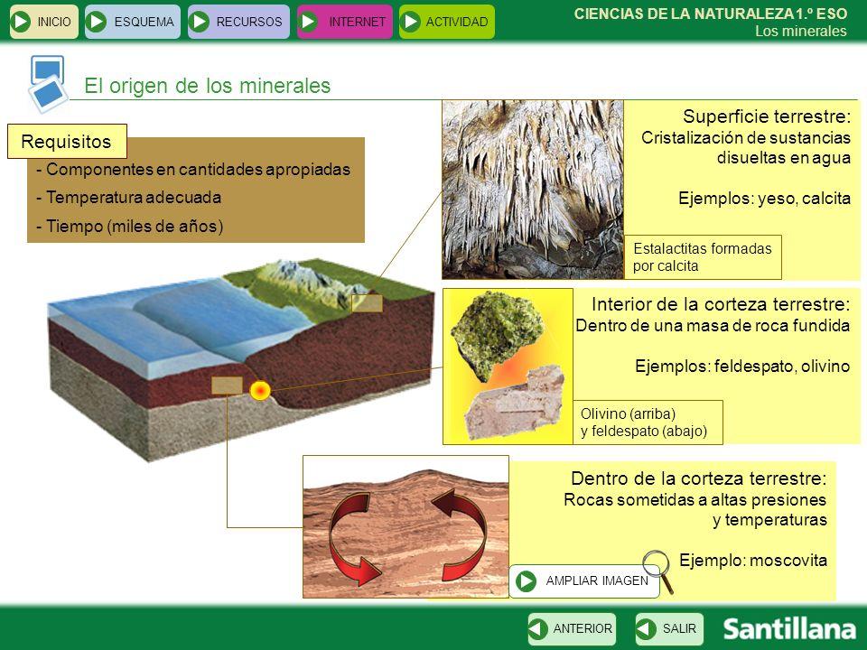 El origen de los minerales