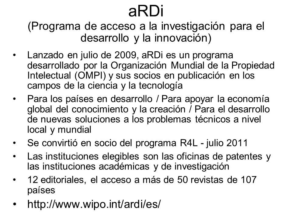 aRDi (Programa de acceso a la investigación para el desarrollo y la innovación)