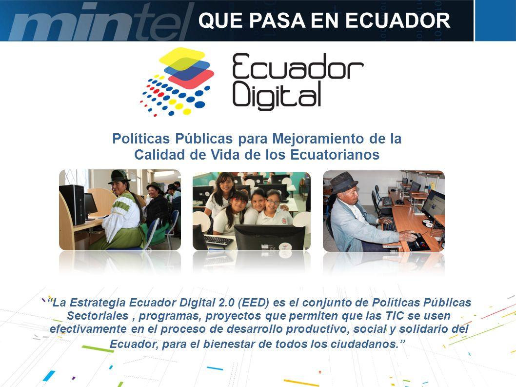 QUE PASA EN ECUADOR Políticas Públicas para Mejoramiento de la