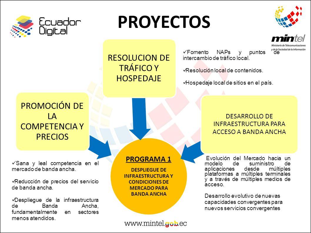 PROYECTOS RESOLUCION DE TRÁFICO Y HOSPEDAJE