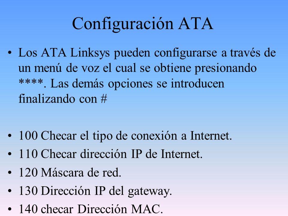 Configuración ATA