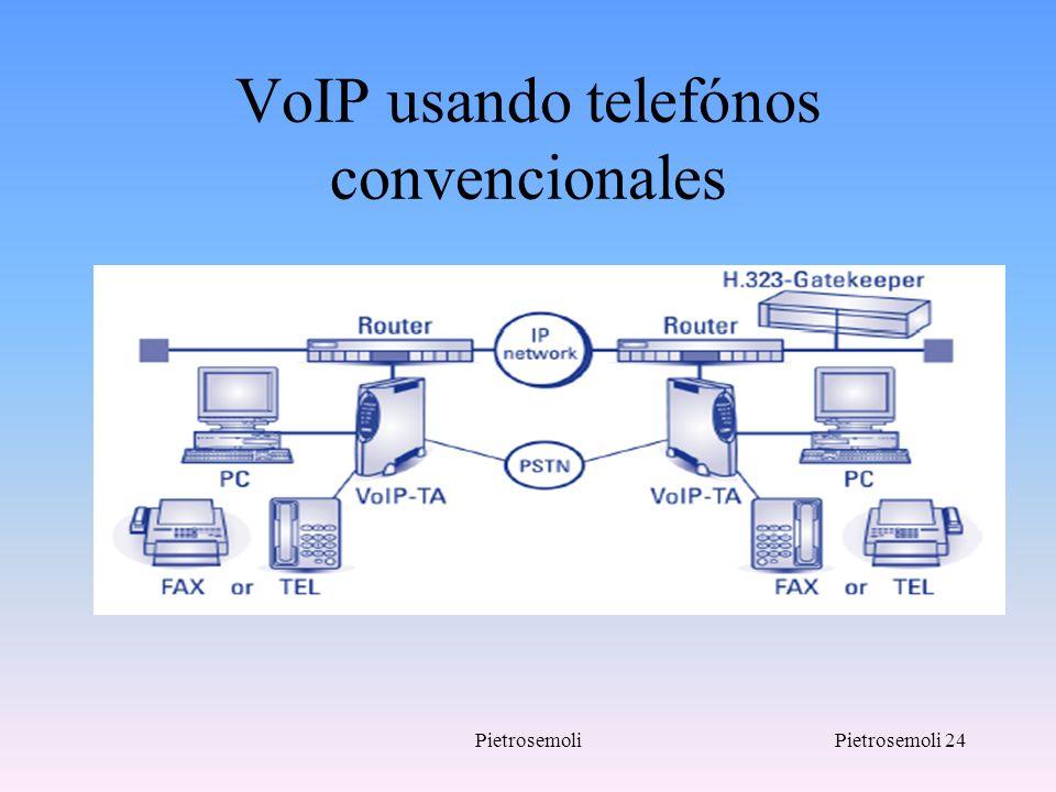 VoIP usando telefónos convencionales
