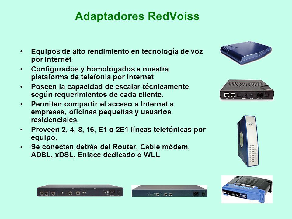Adaptadores RedVoiss Equipos de alto rendimiento en tecnología de voz por Internet.