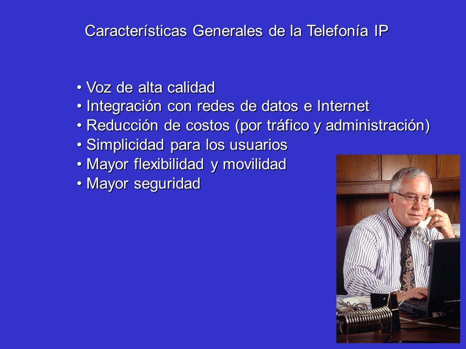 Características Generales de la Telefonía IP