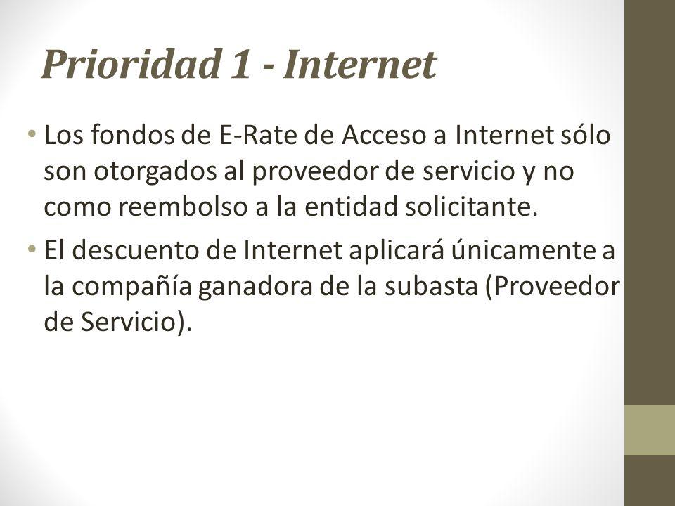 Prioridad 1 - Internet