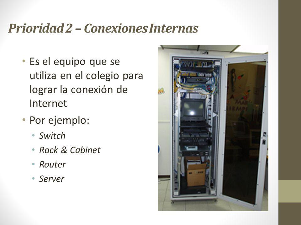 Prioridad 2 – Conexiones Internas