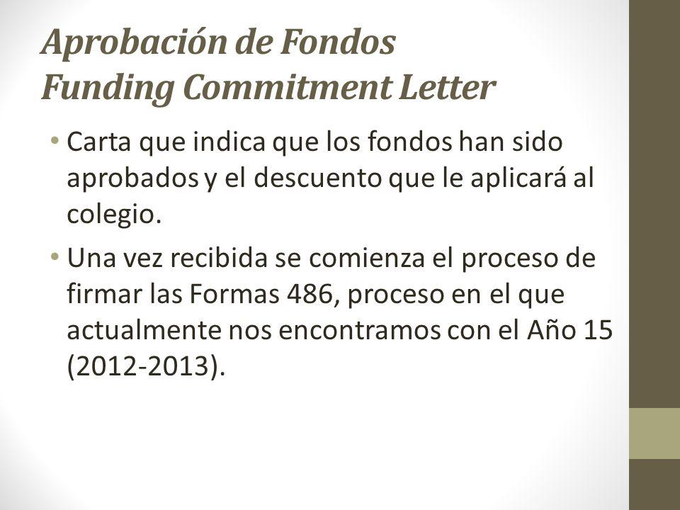 Aprobación de Fondos Funding Commitment Letter