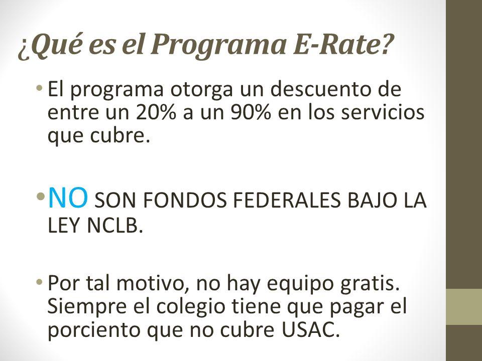 ¿Qué es el Programa E-Rate