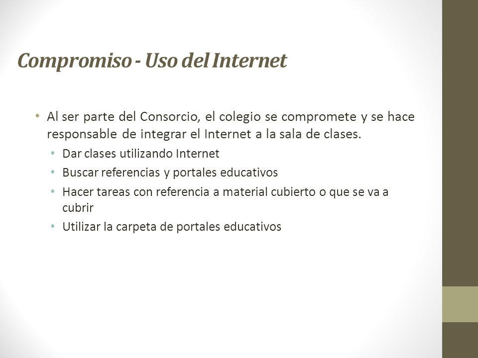 Compromiso - Uso del Internet