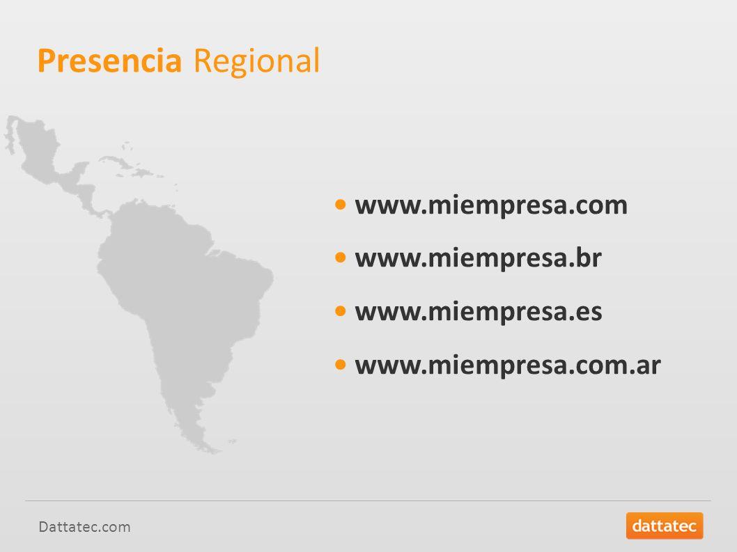 Presencia Regional • www.miempresa.com • www.miempresa.br