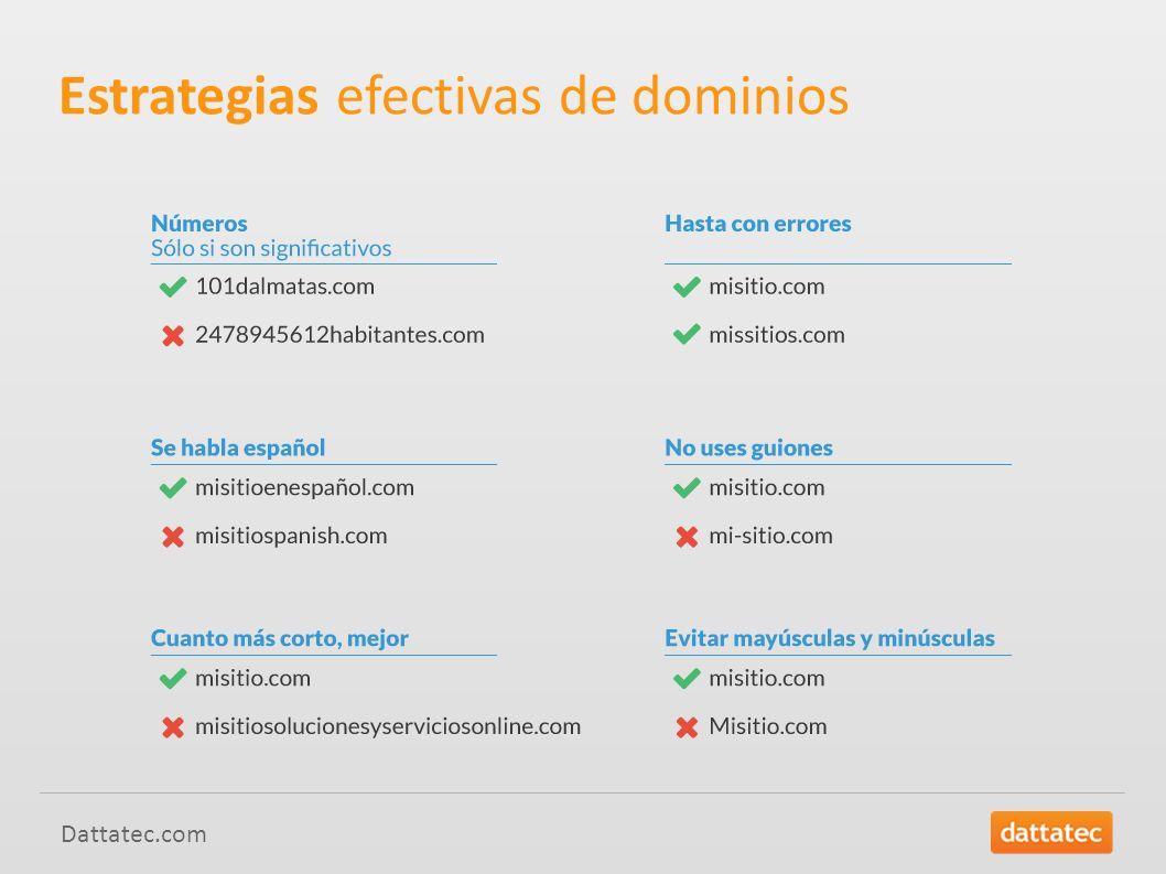 Estrategias efectivas de dominios