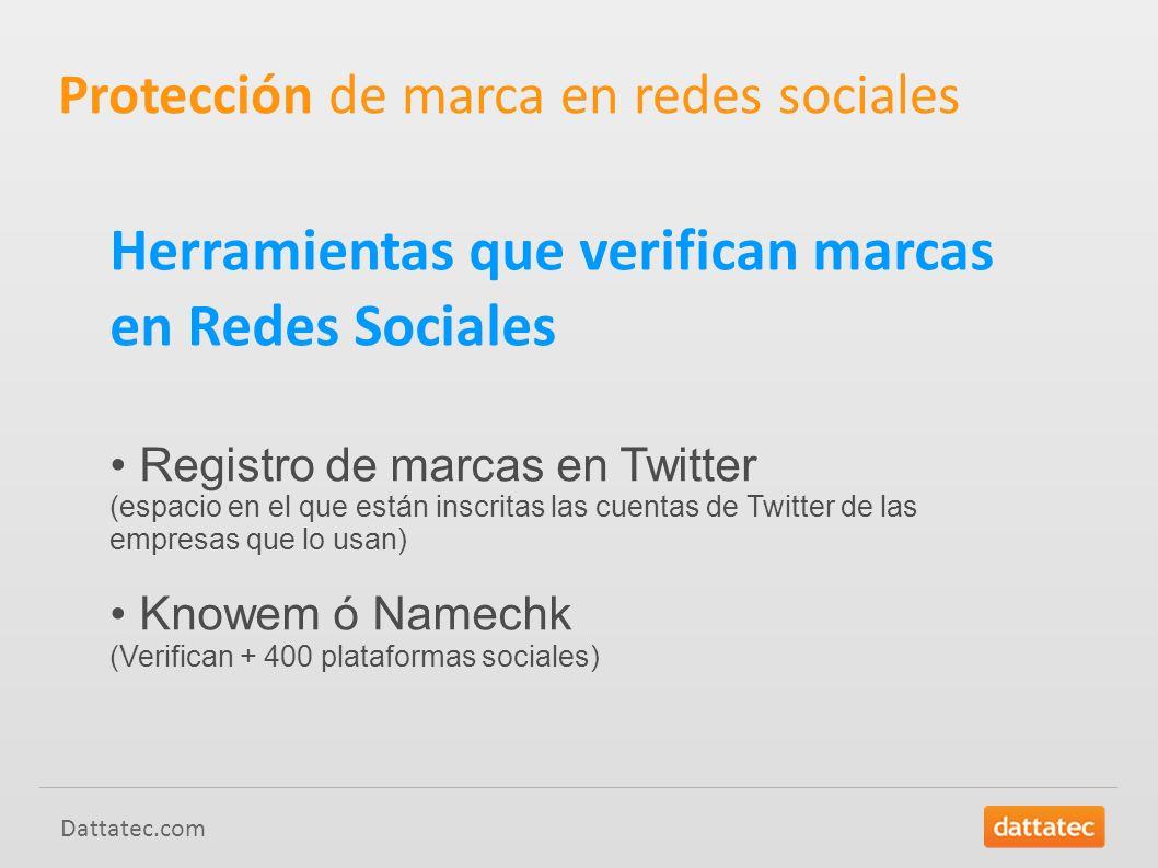 Herramientas que verifican marcas en Redes Sociales