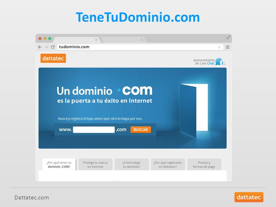 TeneTuDominio.com Dattatec.com