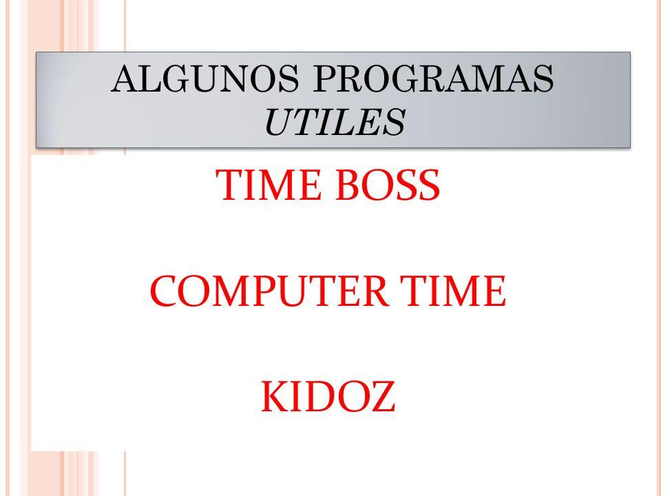 ALGUNOS PROGRAMAS UTILES