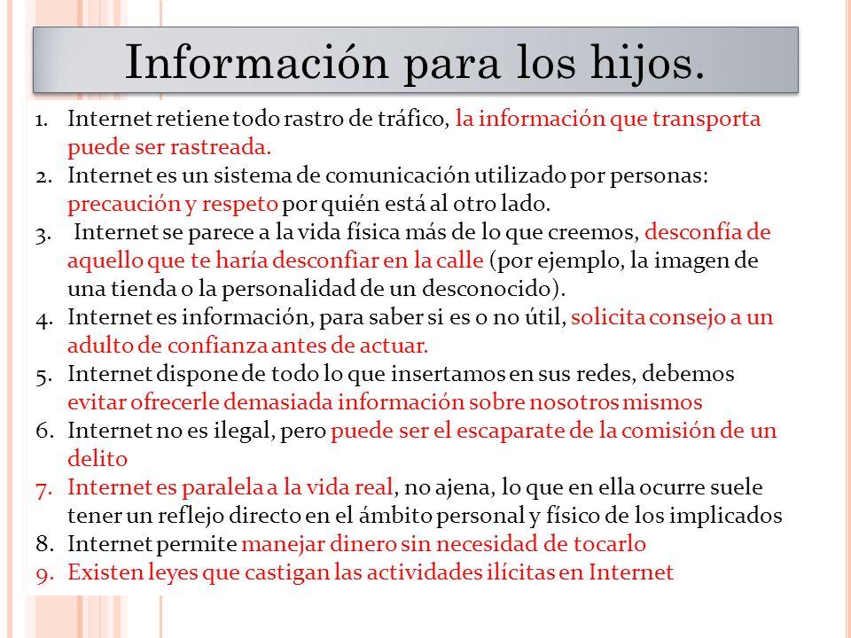 Información para los hijos.
