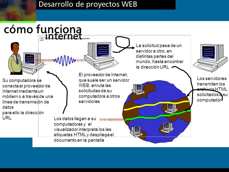 cómo funciona internet Desarrollo de proyectos WEB