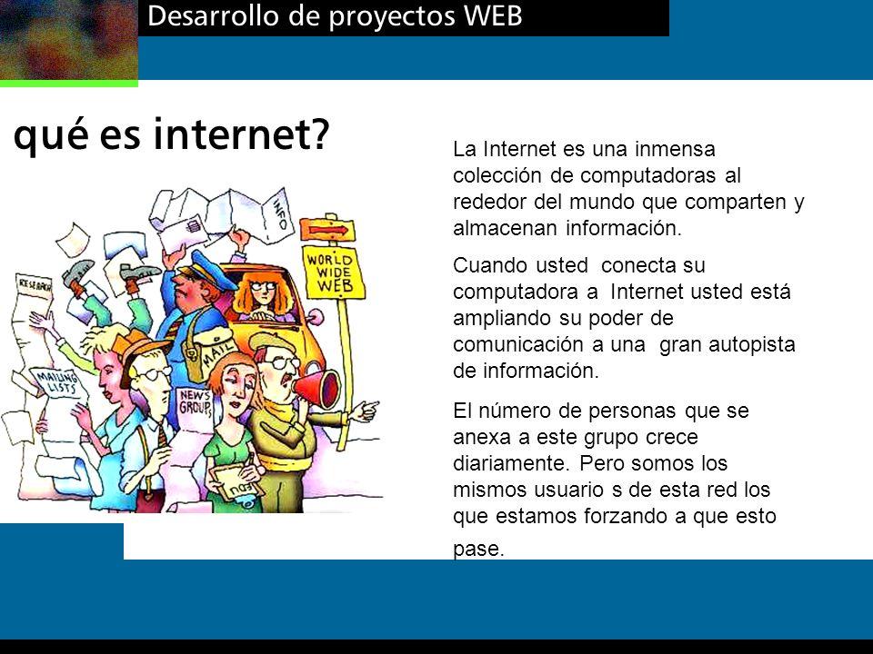 qué es internet Desarrollo de proyectos WEB