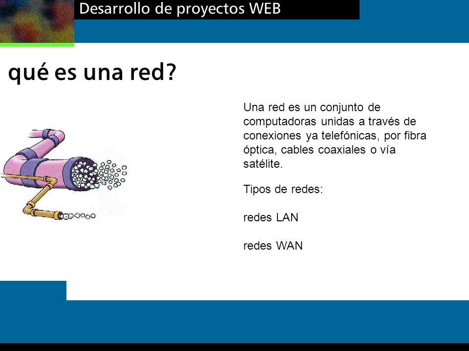 qué es una red Desarrollo de proyectos WEB