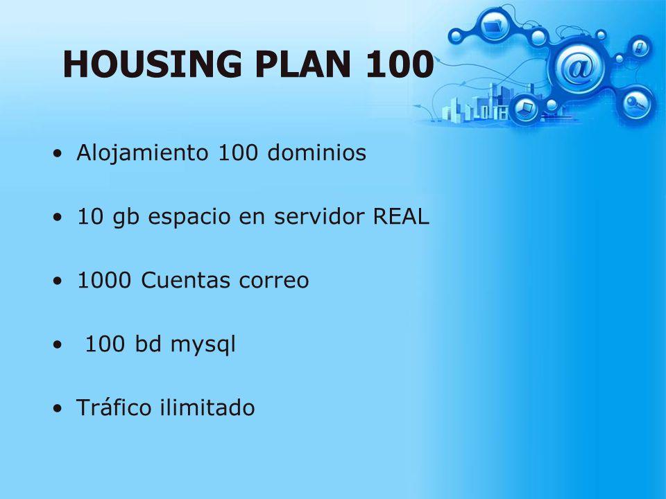 HOUSING PLAN 100 Alojamiento 100 dominios